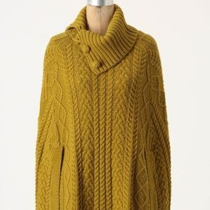 Anthropologie Fiets Voor 2 Cable Cocoon Poncho S/M